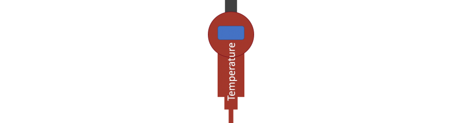Electronic temperature switch